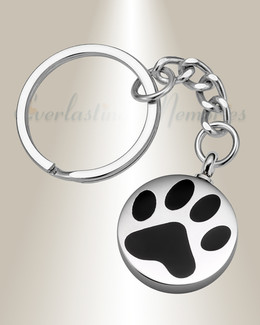 Loved Pawprint Stainless Cremation Keychain