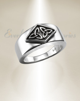 Silver Lad Cremation Ring