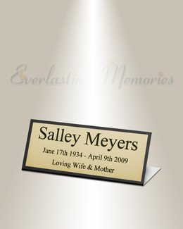 Crater Easel Engraved Plate