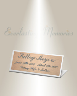 Pavo Easel Engraved Plate