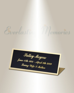 Pisces Easel Engraved Plate