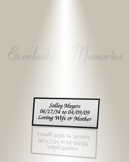 Medium Lyra Engraved Plate