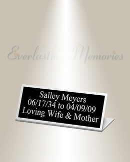 Pictor Easel Engraved Plate