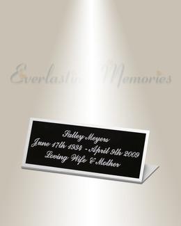 Vela Easel Engraved Plate