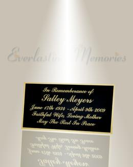 Large Epsilon Engraved Plate