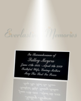 Large Gamma Engraved Plate