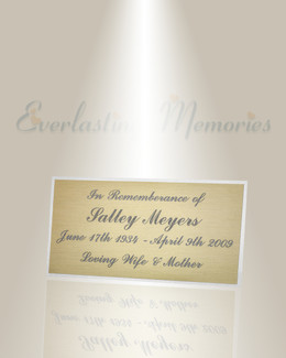 Large Zeta Engraved Plate