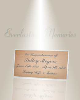 Large Theta Engraved Plate