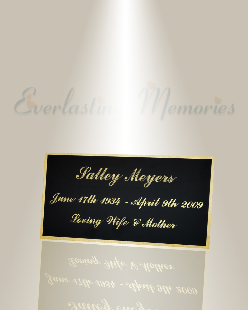 Large Pisces Engraved Plate