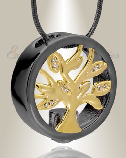 Black and Gold Ancestry Memorial Jewelry