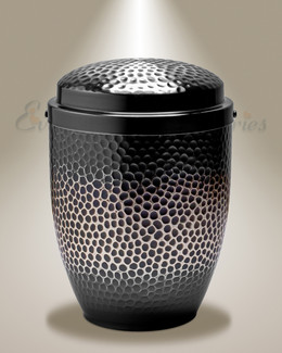 Silver Dappled Cremation Urn