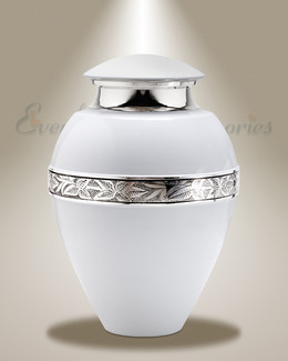 White Yours Always Cremation Urn