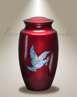 Fiery Doves Cremation Urn