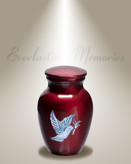 Wine Doves Keepsake Urn