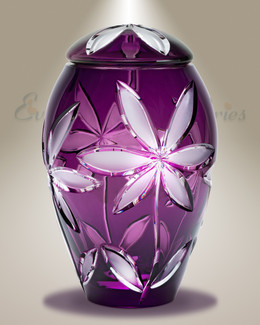 Purple Flowers Individual Cremation Urn