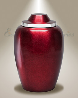Burgundy Whispers Cremation Urn