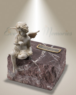 Red Angels Among Us Cremation Urn