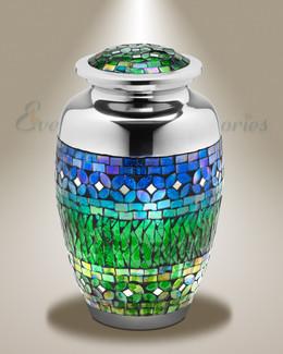 Spring Garden Cremation Urn