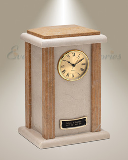 Solemn Clock Cremation Urn