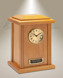 Rustic Tower Clock Cremation Urn