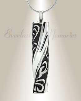 Stainless Twisted Cylinder Cremation Jewelry