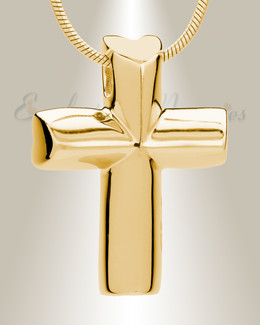 Gold Sacred Cross Memorial Jewelry