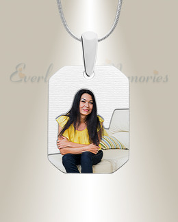 Silver Boxed Color Photo Engraved Pendant