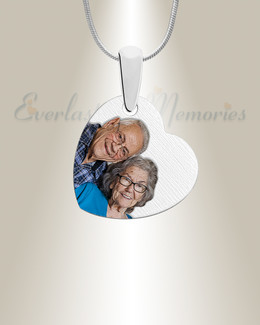 Silver Heartfelt Color Photo Pendant