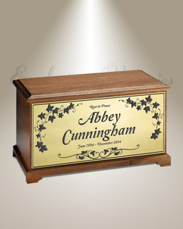 Spring Wreath Cremation Urn