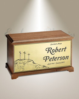 Three Crosses Cremation Urn
