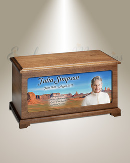 Arizona Desert Cremation Urn With Photo