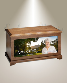Country Garden Picture Urn For Ashes