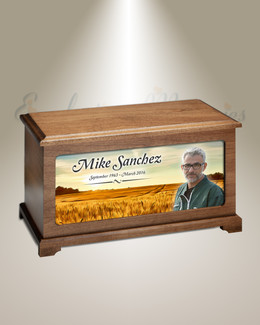Prairie Land Picture Cremation Urn