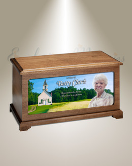 School House Digital Photo Urn