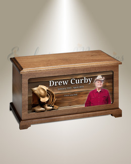 Cowboy Urn With Photo