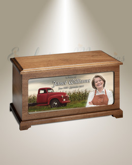 Farmers Picture Cremation Urn