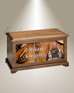 Fly Fishing Photo Urn For Ashes