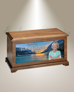 Glacial Lake Photo Cremation Urn