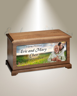 Summer Sunset Cremation Urn With Photo