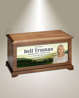 Morning Pasture Picture Cremation Urn
