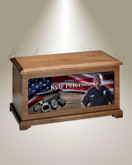 Policeman Photo Urn For Ashes