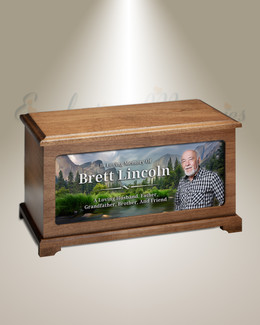 Mountain Valley Photo Cremation Urn