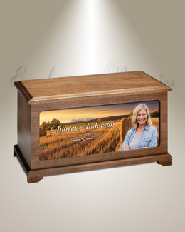Wheat Fields Picture Urn For Ashes