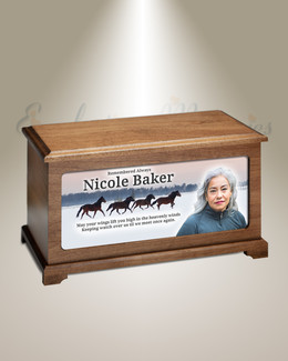 Wild Horses Digital Photo Urn