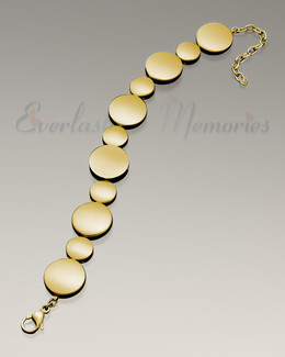 Polished Gold At Peace Bracelet Cremation Jewelry
