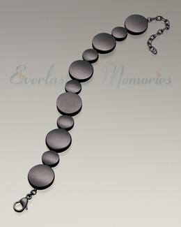 Black Satin At Peace Bracelet Cremation Jewelry