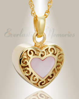 14K Gold Tender Emotions Heart Keepsake