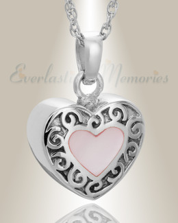 14K White Gold Tender Emotions Heart Keepsake
