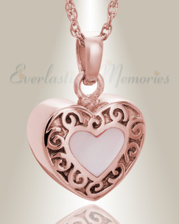 14K Rose Gold Tender Emotions Heart Keepsake