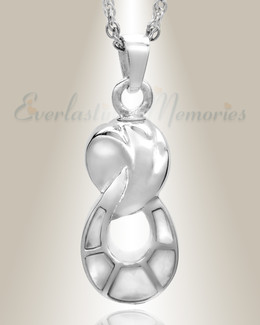14K White Gold Everlasting Companion Infinity Jewelry Urn